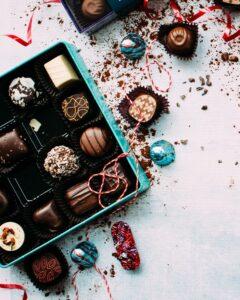 Colorful Christmas Chocolates