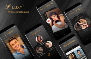 Luxy - The Dating App for High-End Dating - Image showing use of the app