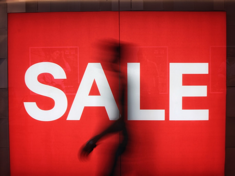Big Red Sale Sign for Singles Day