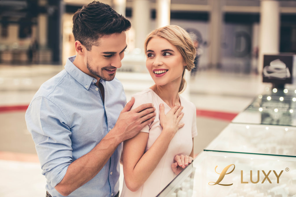 Lovely Couple Choosing their Engagement Rings