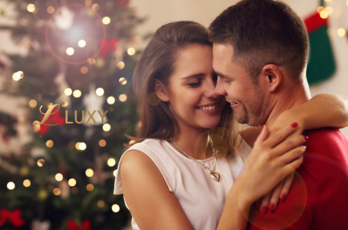 Romantic Christmas Couple
