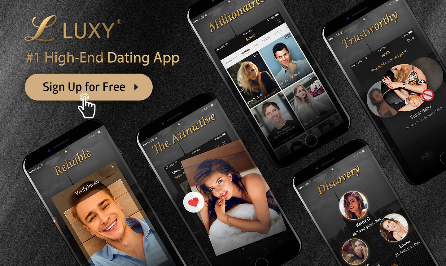 Join High End Dating App: Luxy Dating Now for Free