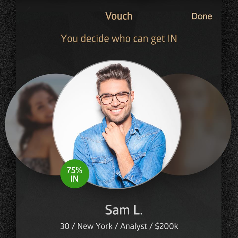 Vouch process on Luxy