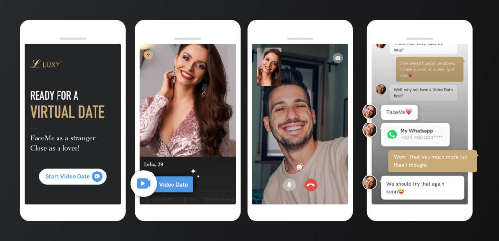 Video chat on luxy - chat me